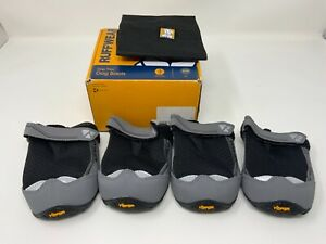 "Ruffwear Grip Trex Dog Boots Box Of 4 Boots Size 3.25"" 83mm Twilight Gray New In"