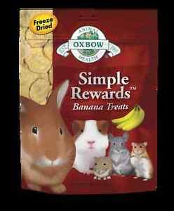 Oxbow Simple Rewards BANANA or STRAWBERRY TREAT Small Animal