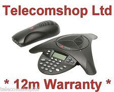 Polycom Soundstation 2 Full Duplex Conference Phone w/ PSU & Cables 12m Warranty