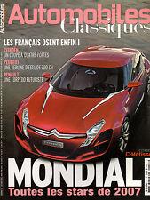 REVUE MAGAZINE AUTOMOBILES CLASSIQUES N°157 10/2006 SPECIAL MONDIAL 2007