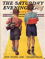 1937 Saturday Evening Post September 11-Marie Curie; Wodehouse; Bedford-Jones