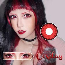 2X Halloween Cosplay Color Lenses Crazy Circle Big Eyes Makeup Beauty Lens -No.9