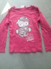 tee shirt HELLO KITTY rose. Taille 8 ans