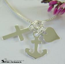 Anhänger Herz Kreuz Anker * 925 Silber * Liebe Glaube Hoffnung * Silberanhänger