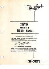 Short S3 Skyvan Repair manual rare Shorts STOL 1960's historic archive 'Shed'