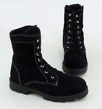 Boots Winter Stiefeletten Blockabsatz Echtleder schwarz Gr. 36