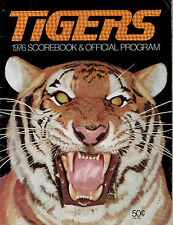 Detroit Tigers 1976 Score Book and Offical Program