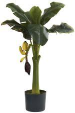 Artificial Plant 3 ft. Banana Tree Plastic with Non-Decorative Nursery Pot Black