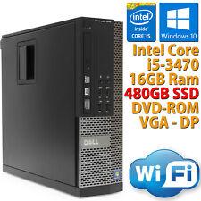 PC COMPUTER DESKTOP DELL 7010 RICONDIZIONATO CORE i5-3470 RAM 16 SSD 480GB WIFI
