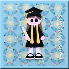 Graduation Girl 2 Paper Piecing Embellishment card toppers and scrapbooking