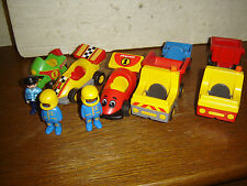 Playmobil  123 lot AUTO-MOTO-CAMION