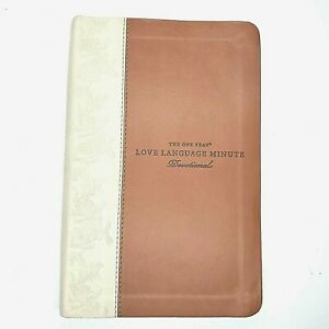 One Year Love Language Minute Devotional Gary Chapman Signed Imitation Leather
