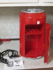 "New Coca Cola Coke Can Mini Fridge Refrigerator Koolatron Portable Cooler 15"""