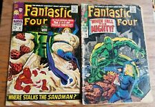 FANTASTIC FOUR LOT of 2 Comics #61 and #70 (1967) Silver Age Marvel Set