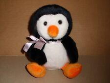 Russ Berrie Shining Stars Plush Penguin Black White Orange New w/Sealed Code 8''