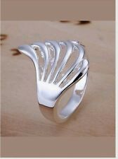 925 STERLING Silver Adjustable ANGEL WING Ring Thumb Wrap Ring WEDDING GIFT +BAG