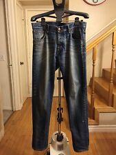 Authentic Men's NOBODY Indigo 'Factory Distressed' Jeans Size 34 Hi-End Denim