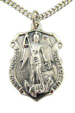 CB The Heritage Collection Silver Tone Saint Michael Police Pendant, 1 1/4 Inch