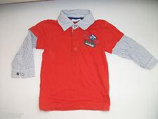 Langarmshirt mit Hemdeinsatz Grösse 92 Topomini