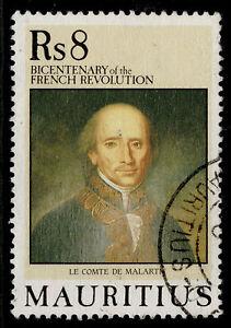 MAURITIUS QEII SG820, 1989 8r French revolution, FINE USED.