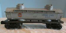 Lionel Lines 6465 Grey Gulf Oil Car Plastic 8 Wheel For Steam Locomotive Train