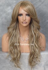 Stunning Long Loose wavy wig bangs Heat Safe Skin Top Blonde mix  wnta 14.22