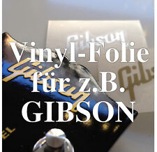 2x vinilo-diapositivas Repair-kit cabeza placa/Headstock decal, por ejemplo, Gibson Matt oro