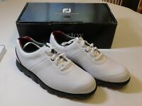 FootJoy Dry Joys Casual Golf Shoes Mens US Size 9.5 Medium White black NEW