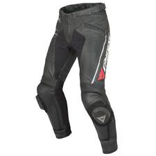 Pantaloni neri pelle bovini per motociclista