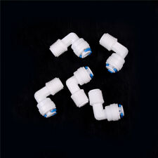 "5Pcs 1/4""X1/4"" Tube Push Fit Union Elbow Quick Connect Ro Water Filter Pop UK"