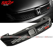 Si-style Mesh ABS Black Front Upper Hood Grill Grille fits for 2012 Civic Sedan