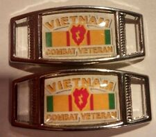 (2) 25th Infantry Division VIETNAM VETERAN Shoelace Charms For Paracord Projects