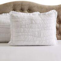 VHC Farmhouse Standard Pillow Sham Cotton White