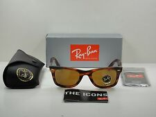 RAY-BAN ORIGINAL WAYFARER SUNGLASSES RB2140 954 TORTOISE/BROWN B-15 LENS 50MM