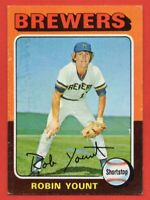 1975 Topps #223 Robin Yount EX/EX+ HOF ROOKIE RC Milwaukee Brewers FREE SHIPPING