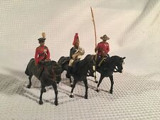 (3) BRITAINS TOY PARADE SOLDIERS MOUNTED ON HORSE BACK ~ MADE IN ENGLAND