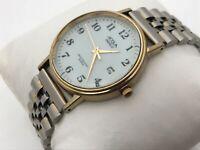 Acqua Indiglo Men Watch Silver Tone Analog Water Resistant Wrist Watch Read Desc