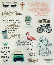 Religious Phrase Bible Verse Keep Calm Pray On Faith Scrapbook Stickers