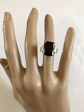 10k 10kt Yellow Gold Solitaire Ring Onyx 5.7 Grams Size 7