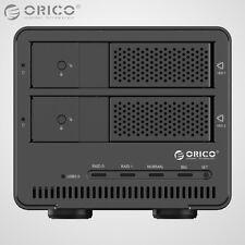 "ORICO Aluminum 2Bay USB 3.0 3.5"" Inch SATA 3.0 Hard Drive HDD Enclosure Raid Box"