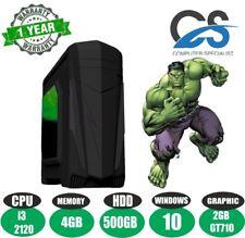 Rapide Bureau Ordinateur Pc de Jeux Intel i3 2120 @ 3.3GHz 4gb DDR3 2gb Nvidia