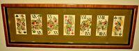 Antique Playing Cards FERD PIATNIK & SOHNE WEIN Original Lithograph Framed Set