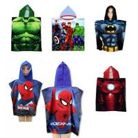 Disney Marvel Character Hooded Towel Poncho Bath Beach Pool Kids Boys Girls