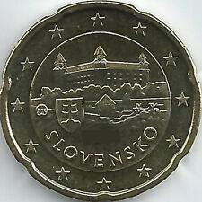 Slovaquie 20 Cent Pièce De Monnaie 2009 2017,non Mis En Circulation/