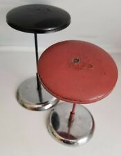 2 Antique Deco Weighted Counter Top Store Wig Hat Head Mannequin Sculpture Stand