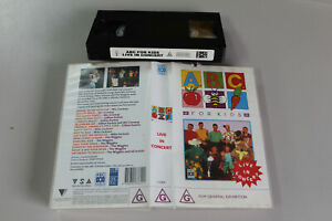ABC FOR KIDS LIVE IN CONCERT VHS - The Wiggles 1993 video cassette