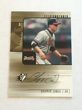 Chipper Jones 2000 Upper Deck SPx Signatures ON CARD Auto Braves FREE SHIP