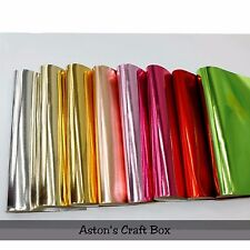 20 x 22cm metallic PU faux Leather fabric Sheet Shiny Craft Hair Bows UK Seller