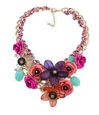 Flower Statement Necklace Pendant Cheap Bubble Bib Chain Chunky Pendant Jewelry