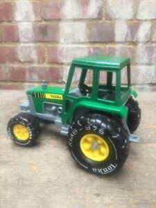 Vintage Tonka Toy Farm Tractor Plastic 1980s Green & Yellow John Deere XMB 975